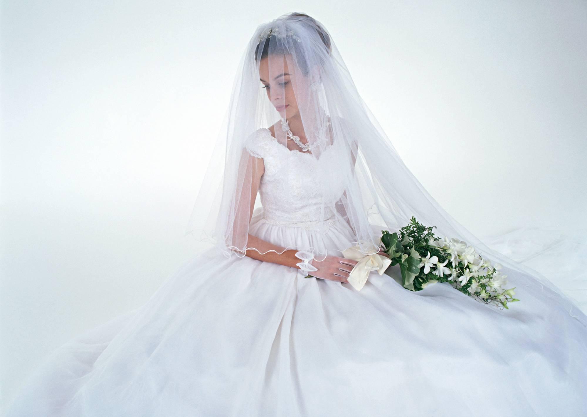 В свадебном платье без лица фото на аву